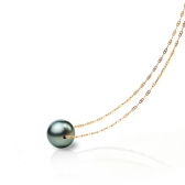 Gold necklace with a Tahiti pearl