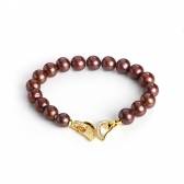 Bracelet with chocolate pearls