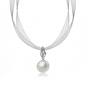 Gol necklace with South sea pearl