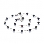 Freshwater black pearl set