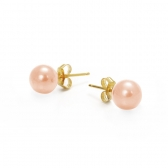 Orange freshwater pearl earings