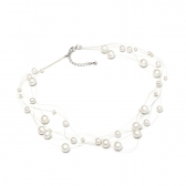 Freshwater pearl necklace on invisible string