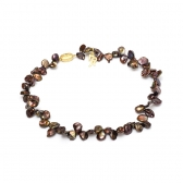 Chocolate pearl necklace