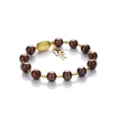 Chocolate pearl bracelet