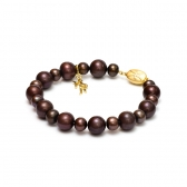 Pearl bracelet of chocolate-coloured pearls