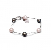 Black and lavender pearl bracelet