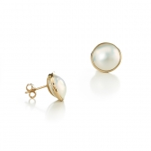 Mabe Pearl 14k gold earrings