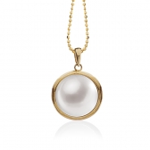 Mabe Pearl 14K gold pendant