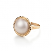 Mabe Pearl gold ring