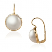 Mabe Pearl 18k gold earrings