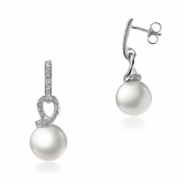 White gold earrings with Sea pearls and diamonds