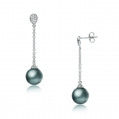 Gold earrings with Tahitian pearls
