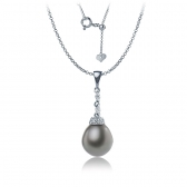 Tahitian pearl gold necklace
