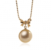 Gold necklace with South Sea pearl