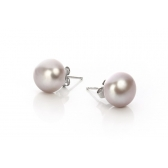 Silver earrings with lavender pearls