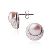 Diona errings with lavender pearls