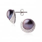 Doina black pearl earrings