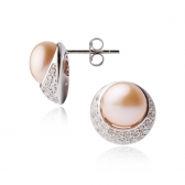 Diona orange pearl earrings