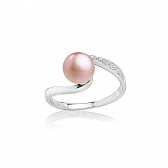 Allegra ring with orange pearl