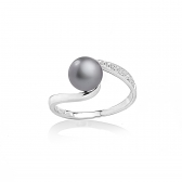 Allegra ring with gray pearl