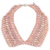 Pearl necklace in the form of collar