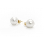 Golden earrings with South Sea pearls