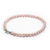 Necklace with large pink pearls