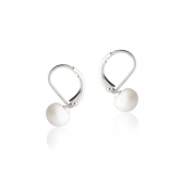 Silver earrings with white freshwater pearls