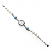 Watch with pearls and turquoise