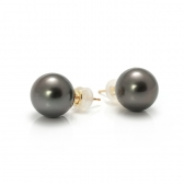 Earrings with Tahiti pearl