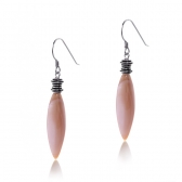 Earrings with pink mother of pearl