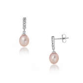 Earrings with lavender pearls
