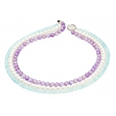 Necklace with pearls, topaz and amethyst