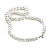 Freshwater large pearl necklace