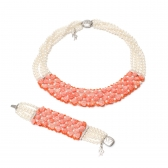 Versilia set with pearls and corals