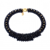 Iolite and pearl Nika necklace