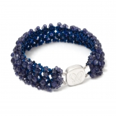 Irida bracelet of dark blue iolite