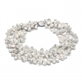 'Snowflake'  Keshi pearl necklace