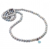 'Blue ocean'  Akoya pearl necklace