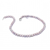Freshwater lavender pearl necklace
