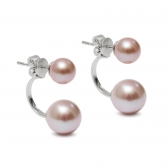 Tandem lavender pearl earrings