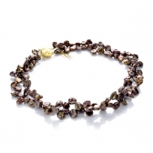 Chocolate Keshi pearl necklace