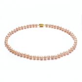 Orange freshwater pearl necklace