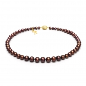 Classic chocolate pearl necklace
