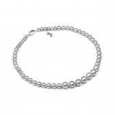 Classic gray pearl necklace