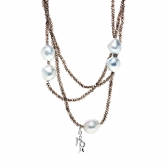 Cruise Necklace with spinel and South Sea pearls