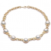 Villandry gold necklace with Mabe pearls