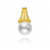 Avant-Garde gold-plated silver pendant with white pearl