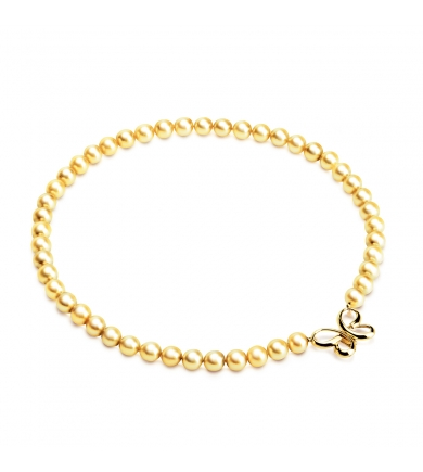 Akoya gold pearl necklace