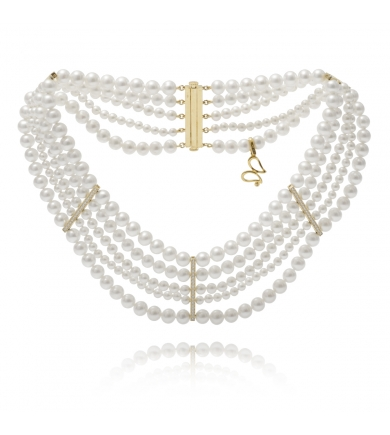 Aphrodite white pearls necklace
